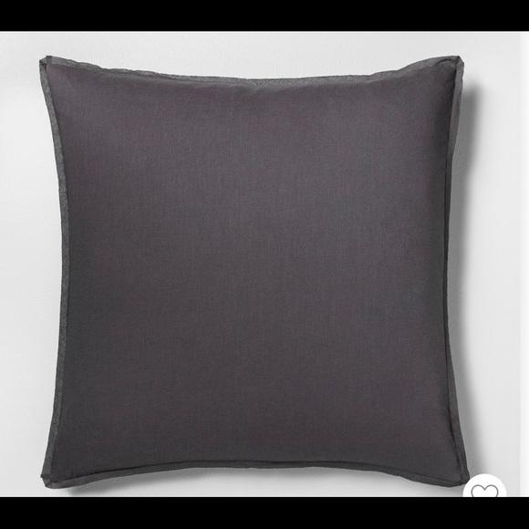 Hearth & Hand Other - Euro Pillow Sham Railroad Grey Hearth & Hand New